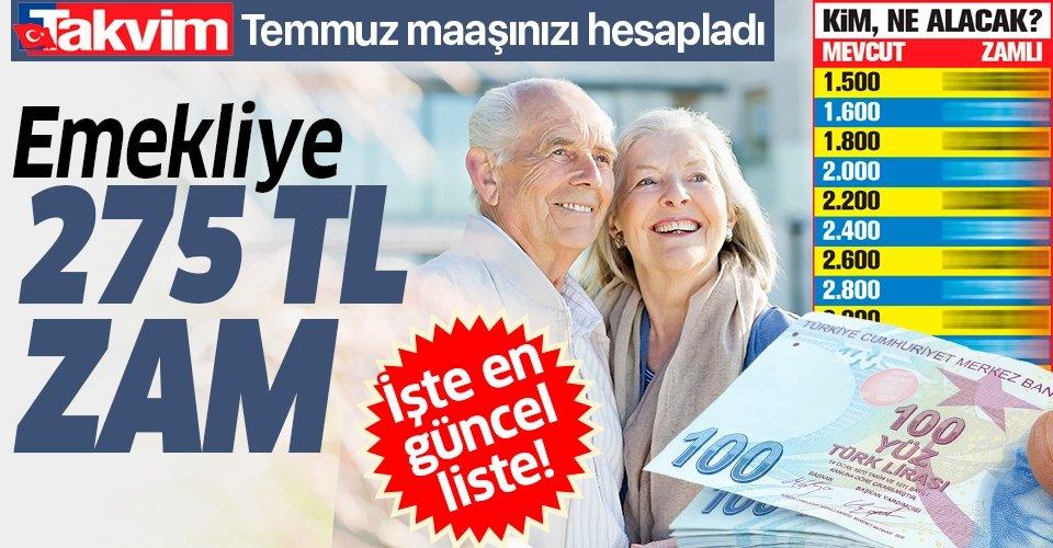 Emekliye 275 TL zam   2020 Temmuz SSK SGK ve Bağ-Kur güncel emekli maaşı ne kadar olacak?