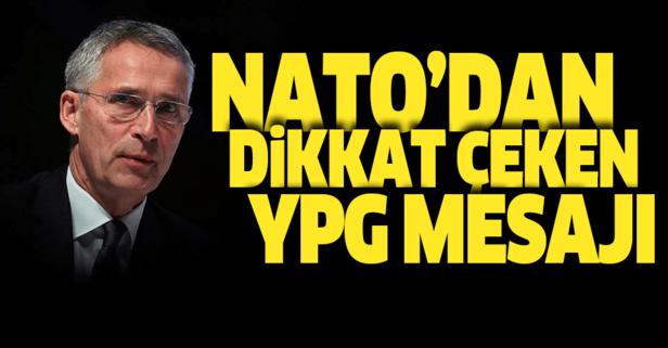 Stoltenberg'den dikkat çeken YPG açıklaması