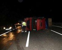 TEM'de trafiği kilitleyen kaza