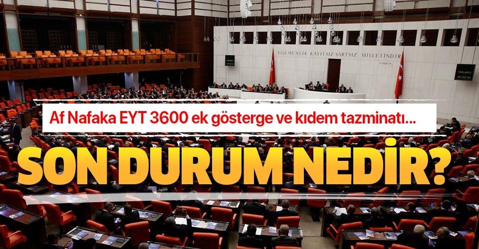 Af, nafaka, EYT, 3600 ek gösterge kıdem tazminatı yasası çıktı mı?