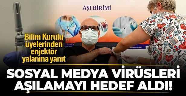 Sosyal medyadaki 'enjektör' yalanına yanıt