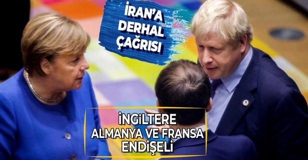 İngiltere, Almanya ve Fransa, İran'dan endişeli