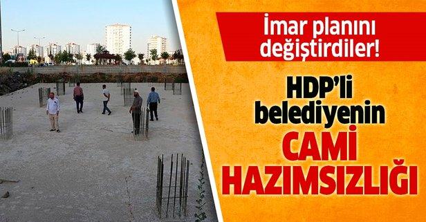 HDP'li belediyenin cami hazımsızlığı!