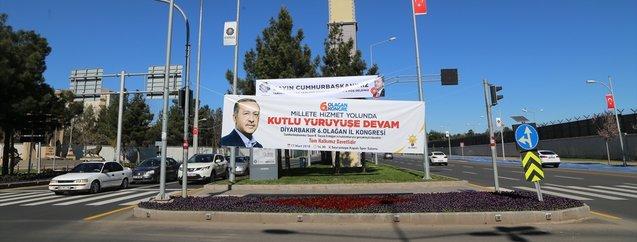 Diyarbakır'da Cumhurbaşkanı Erdoğan heyecanı