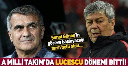 A Milli Takım'da Lucescu gönderildi yerine Şenol Güneş geliyor