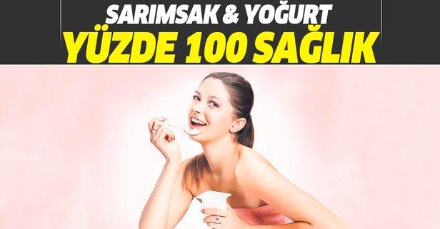 Sarımsak yoğurt yüzde 100 sağlık