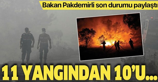 Bakan Pakdemirli'den orman yangınları açıklaması