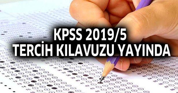 KPSS 2019/5 tercih kılavuzu memur alım şartları