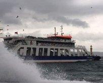 Fırtına deniz ulaşımını vurdu! İşte iptal olan seferler