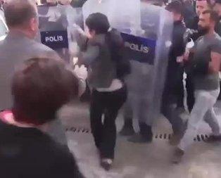 HDP'li Sürücü polis kalkanına koşarak kafa attı