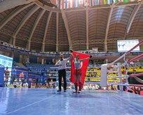 Erivan Barut, Kick Boks Şampiyonası'nda birinci oldu