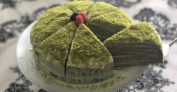 Gelinim Mutfakta ıspanaklı krep pastası tarifi!