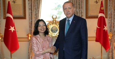 Başkan Erdoğan Japonya Prensesi Mikasa'yı kabul etti