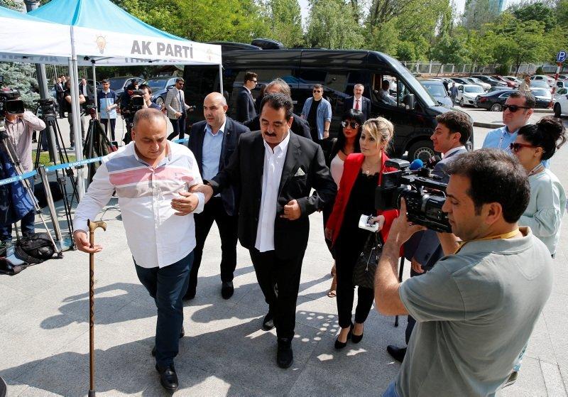 İbrahim Tatlıses AK Parti Genel Merkezinde