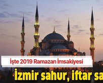 İzmir iftar, sahur ve imsak vakti!