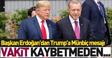 Son dakika: Başkan Erdoğan, Trump ile görüştü | Mutabık kaldılar