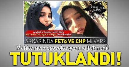 Atatürk üzerinden provokasyon yapan Safiye İnci'ye tutuklandı