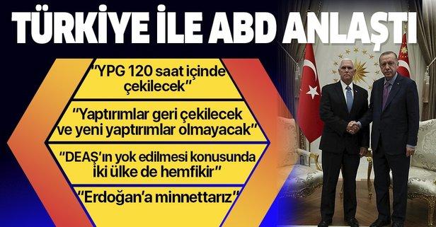 Mike Pence açıkladı: YPG 120 saat içinde çekilecek
