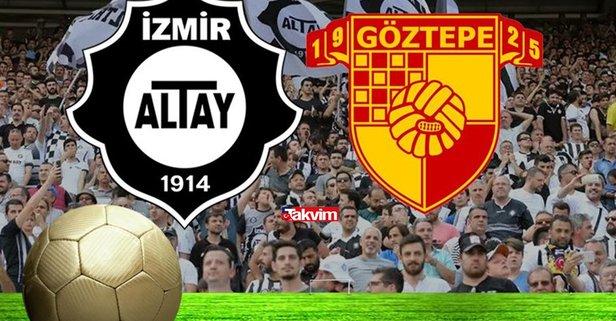 Altay Göztepe maçı saat kaçta? İzmir derbi maçı Altay Göztepe hangi kanalda CANLI yayınlanacak? İzmir derbi maçı şifreli mi, şifresiz mi?