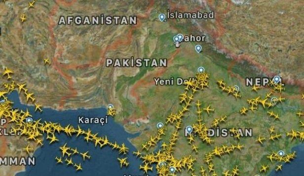 Pakistan Hava Sahasında Ilginç Görüntü