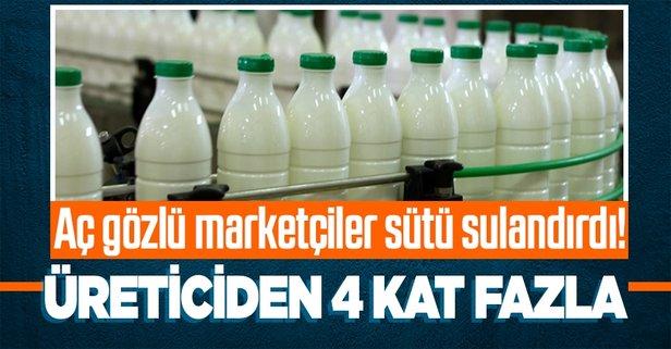 Aç gözlü marketçiler sütü sulandırdı!