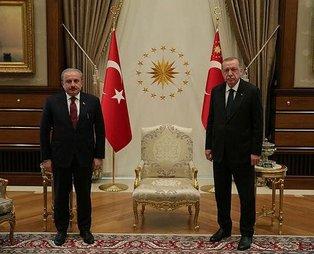 Başkan Erdoğan TBMM Başkanı Şentop'u kabul etti