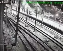 İşte saniye saniye tren kazası görüntüleri