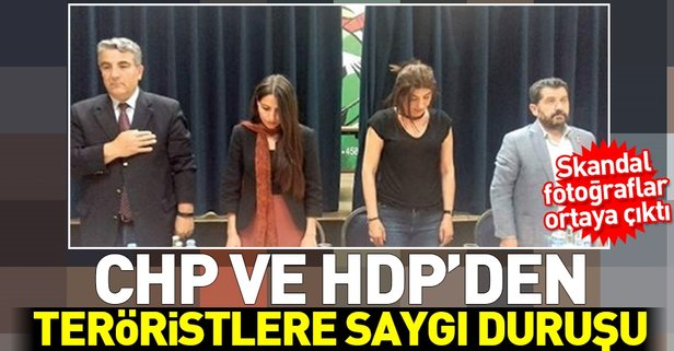 CHP ve HDPden teröristlere saygı duruşu