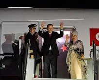 Başkan Recep Tayyip Erdoğan yurda döndü