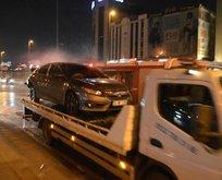 Makas terörü kaza ile sonuçlandı