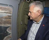 Başbakan Yıldırım, Ağın Köprüsünü havadan inceledi