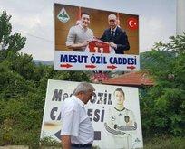 Mesut Özilin memleketindeki o tabela değiştirildi!