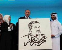 Kongre sonrası Başkan Erdoğan'a anlamlı hediye