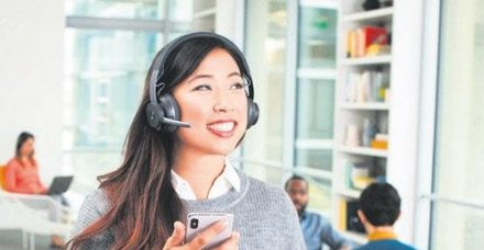 Logitech'ten açık ofisler için taşınabilir kulaklık