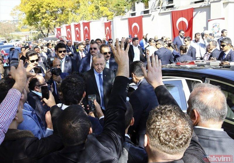 Başkan Erdoğana Güney Afrika'da coşkulu karşılama