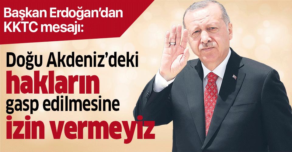 Başkan Erdoğan'dan KKTC'nin 36. kuruluş yıldönümü mesajı