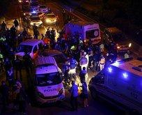 Ankara'da polis uygulama noktasına otomobil daldı!