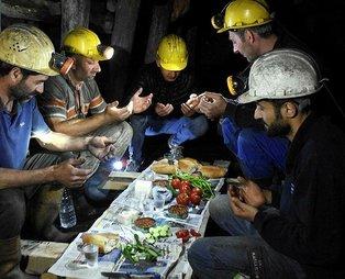 Zonguldak'ta madenciler yerin 300 metre altında ilk sahurunu yaptı