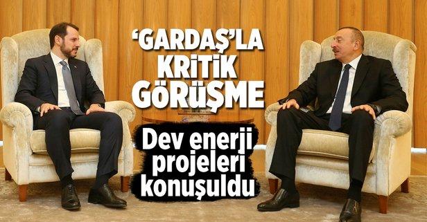 Bakan Albayrak, Aliyevle görüştü