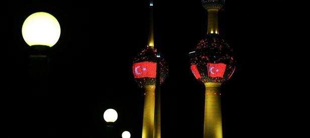 Kuveyt Kulelerine Türk bayrağı