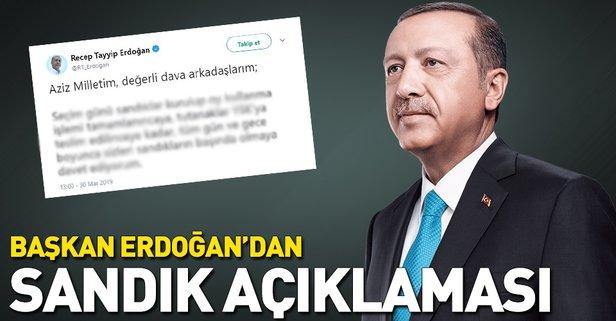 Başkan Erdoğan'dan sandık açıklaması