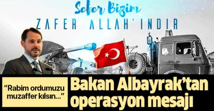 Bakan Berat Albayrak'tan Barış Pınarı Harekatı açıklaması