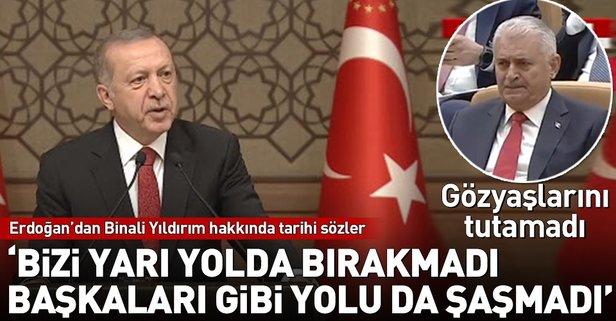 Erdoğandan Yıldırım için tarihi sözler