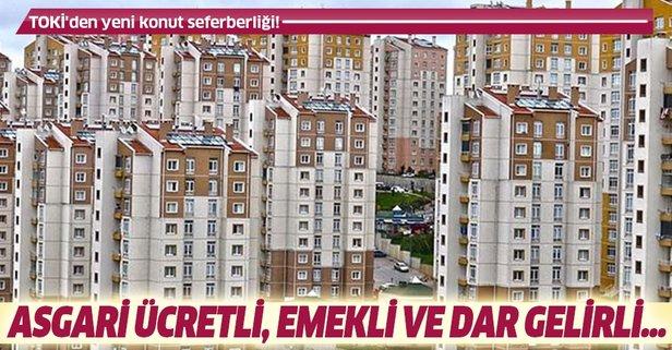 TOKİ'den yeni konut seferberliği! 13 bin peşinatla...