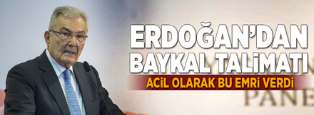 Erdoğan'dan Baykal talimatı