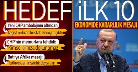 Başkan Erdoğan'dan ekonomide kararlılık mesajı