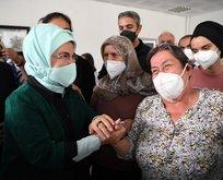 Emine Erdoğan'dan sel bölgesine ziyaret