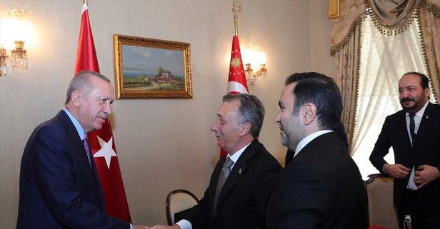 Başkan Erdoğan, Ahmet Nur Çebi'yi kabul etti
