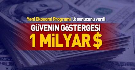 Türkiye'ye güvenin göstergesi: 1 milyar $