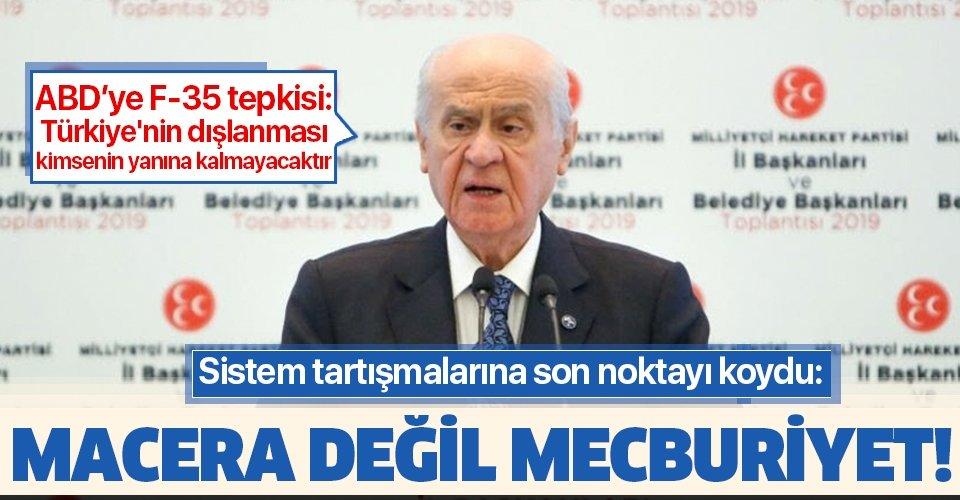 Son dakika: MHP lideri Devlet Bahçeli'den flaş Cumhurbaşkanlığı Hükümet Sistemi açıklaması